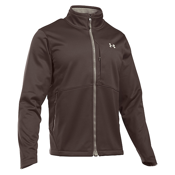 Under Armour ColdGear Infrared Softershell Mens Soft Shell Jacket, Maverick Brown-Graystone, 600