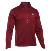 Under Armour ColdGear Infrared Softershell Mens Soft Shell Jacket, Cardinal-Graystone, medium