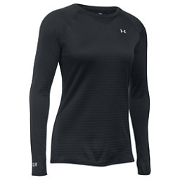 Under Armour Base 2.0 Womens Long Underwear Top, Black-Glacier Gray, 256