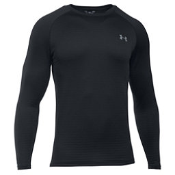 Under Armour Base 3.0 Crew Mens Long Underwear Top, Black-Steel, 256