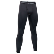 Under Armour Base 3.0 Mens Long Underwear Pants, Black-Steel, medium