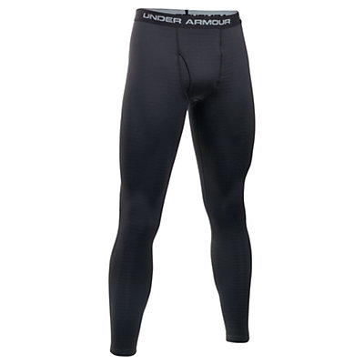 Under Armour Base 3.0 Mens Long Underwear Pants, Black-Steel, viewer