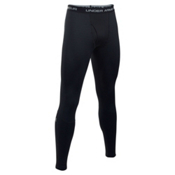 Under Armour Base 4.0 Mens Long Underwear Pants, Black-Steel, medium