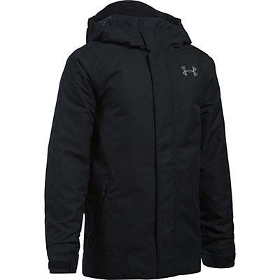Under Armour ColdGear Infrared Powerline Boys Ski Jacket, Black-Black-Graphite, viewer