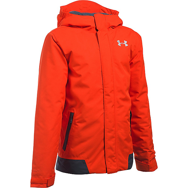 Under Armour ColdGear Infrared Powerline Boys Ski Jacket, Volcano-Stealth Gray-Overcast, 600