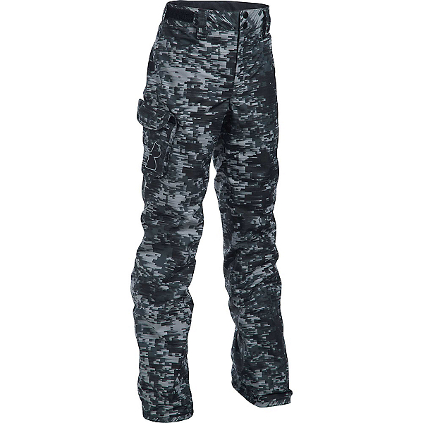 Under Armour ColdGear Infrared Chutes Kids Ski Pants, Overcast Gray-Black-Overcast G, 600