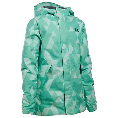 Under Armour ColdGear Infrared Powerline Insulated Girls Ski Jacket, Crystal-Stealth Gray, viewer