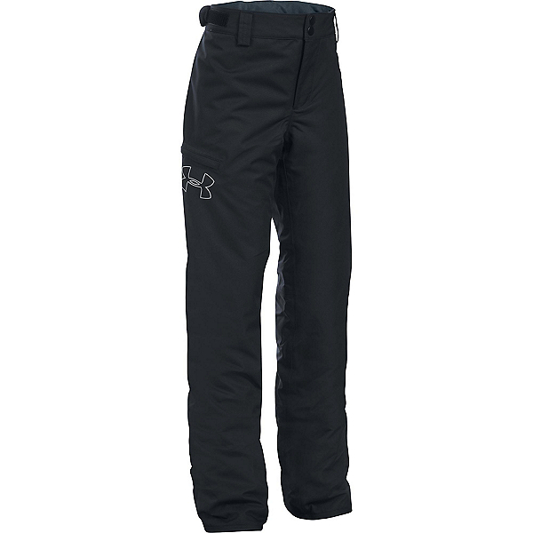 Under Armour ColdGear Infrared Chutes Girls Ski Pants, Black-Glacier Gray, 600