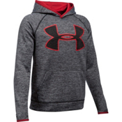 Under Armour AF Storm Twist Highlight Kids Hoodie, Black-Red, medium