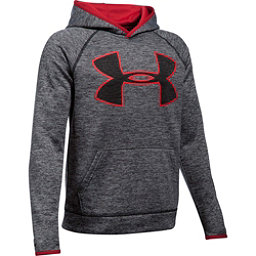 Under Armour AF Storm Twist Highlight Kids Hoodie, Black-Red, 256