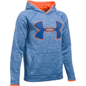 Under Armour Armour Fleece Storm Twist Highlight Kids Hoodie, Ultra Blue-Blaze Orange, medium