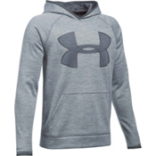 Under Armour Armour Fleece Storm Twist Highlight Kids Hoodie, Steel-Graphite, medium