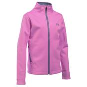 Under Armour ColdGear Infrared Softershell Girls Softshell Jacket, Verve Violet-Aurora Purple, medium