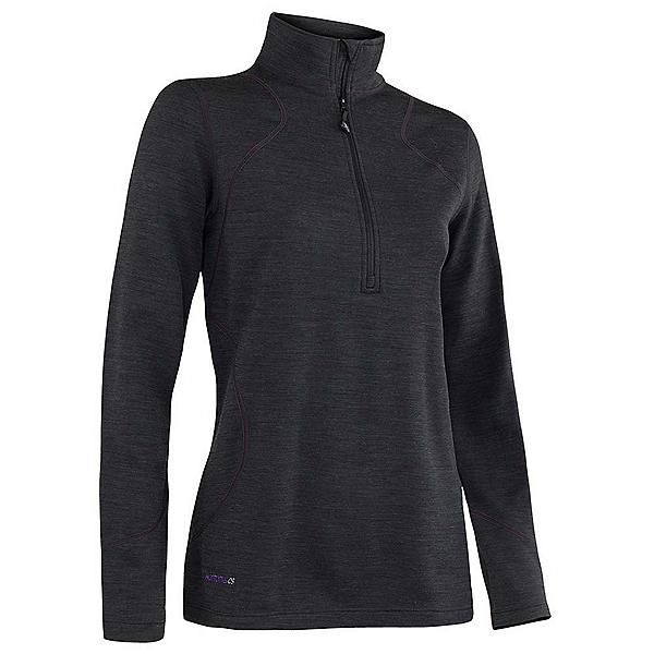Terramar Thermawool Half-Zip Womens Long Underwear Top, Black Heather, 600
