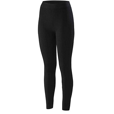 Terramar Seamless Footless Legging 3.0 Womens Long Underwear Pants, Black Cable, viewer
