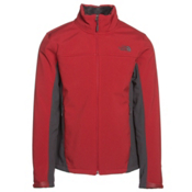 The North Face Apex Chromium Thermal Mens Soft Shell Jacket, Cardinal Red-Asphalt Grey, medium