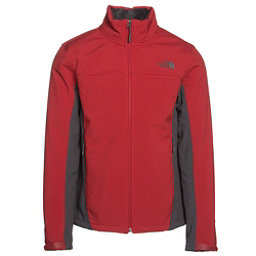 The North Face Apex Chromium Thermal Mens Soft Shell Jacket, Cardinal Red-Asphalt Grey, 256