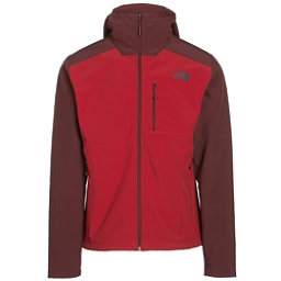 The North Face Apex Bionic 2 Hooded Mens Soft Shell Jacket, Cardinal Red-Sequoia Red, 256