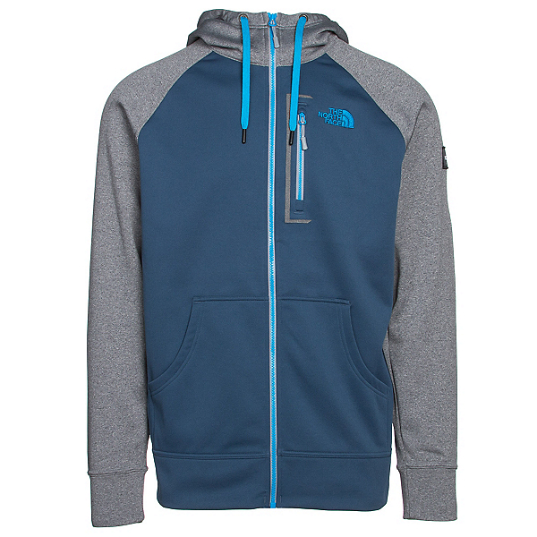 The North Face Mack Mays Full Zip Mens Hoodie, Shady Blue-TNF Medium Grey Hea, 600