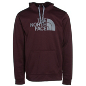 The North Face Surgent Half Dome Mens Hoodie, Root Brown-Mid Grey, medium