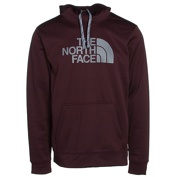 The North Face Surgent Half Dome Mens Hoodie, Root Brown-Mid Grey, 600
