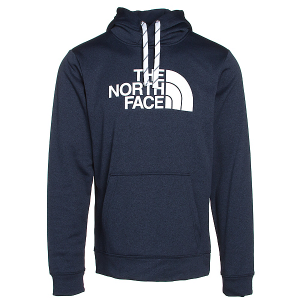 The North Face Surgent Half Dome Mens Hoodie, Cosmic Blue Light Heather-TNF, 600