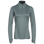 The North Face Motivation 1/4 Zip Womens Shirt, Balsam Green, medium