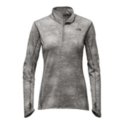 The North Face Motivation 1/4 Zip Womens Shirt, Ashphalt Grey Jacquard, medium
