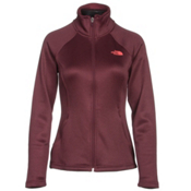 The North Face Agave Full Zip Womens Jacket, Deep Garnet Red Heather, medium