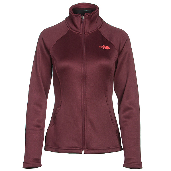 The North Face Agave Full Zip Womens Jacket (Previous Season), Deep Garnet Red Heather, 600