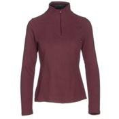 The North Face Glacier 1/4 Zip Womens Mid Layer, Deep Garnet Red Heather, medium