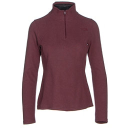 The North Face Glacier 1/4 Zip Womens Mid Layer, Deep Garnet Red Heather, 256