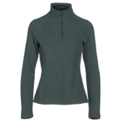 The North Face Glacier 1/4 Zip Womens Mid Layer, Darkest Spruce Heather, medium