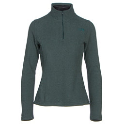 The North Face Glacier 1/4 Zip Womens Mid Layer, Darkest Spruce Heather, 256