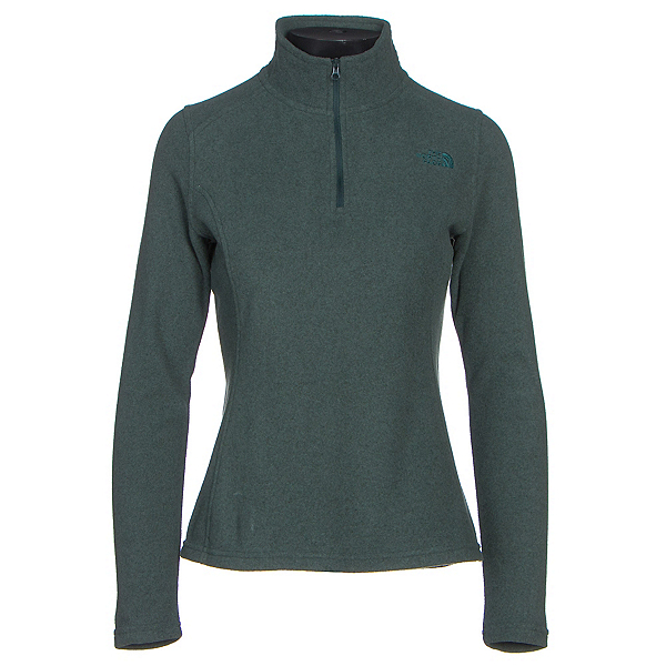 The North Face Glacier 1/4 Zip Womens Mid Layer, Darkest Spruce Heather, 600