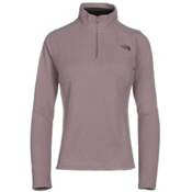 The North Face Glacier 1/4 Zip Womens Mid Layer, Quail Grey Heather, medium