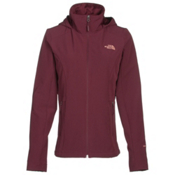 The North Face Shelbe Raschel Hoodie Womens Soft Shell Jacket, Deep Garnet Red, medium
