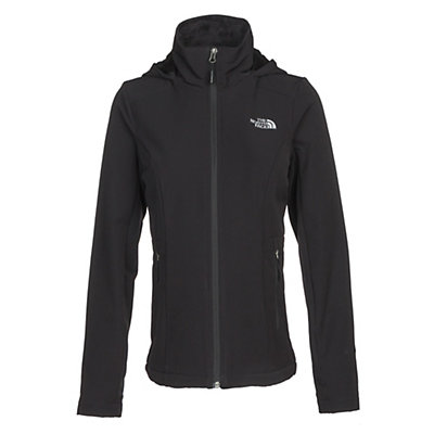 The North Face Shelbe Raschel Hoodie Womens Soft Shell Jacket, TNF Black, viewer