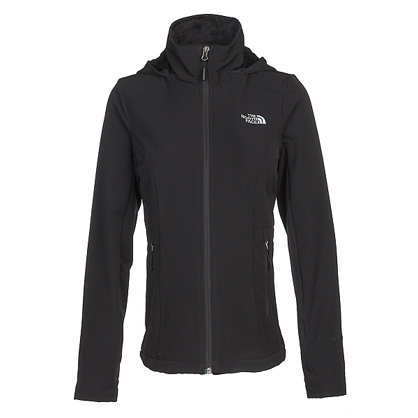 The North Face Shelbe Raschel Hoodie Womens Soft Shell Jacket, TNF Black, 600