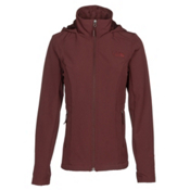 The North Face Shelbe Raschel Hoodie Womens Soft Shell Jacket, Sequoia Red, medium