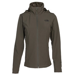 The North Face Shelbe Raschel Hoodie Womens Soft Shell Jacket, New Taupe Green, 256