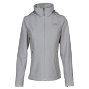 The North Face Shelbe Raschel Hoodie Womens Soft Shell Jacket, High Rise Grey, medium