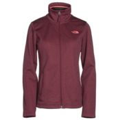 The North Face Meadowbrook Raschel Full Zip Womens Jacket, Deep Garnet Red Heather, medium
