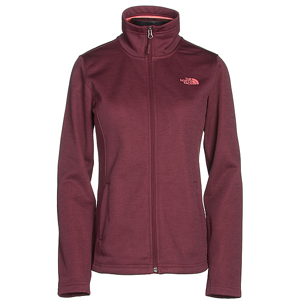 The North Face Meadowbrook Raschel Full Zip Womens Jacket, Deep Garnet Red Heather, 600