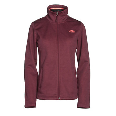The North Face Meadowbrook Raschel Full Zip Womens Jacket, Deep Garnet Red Heather, viewer