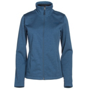 The North Face Meadowbrook Raschel Full Zip Womens Jacket, Shady Blue Heather, medium
