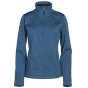 The North Face Meadowbrook Raschel Full Zip Womens Jacket, Shady Blue Heather, medium