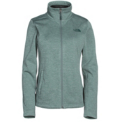 The North Face Meadowbrook Raschel Full Zip Womens Jacket, Balsam Green Heather, medium
