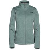 The North Face Meadowbrook Raschel Full Zip Womens Jacket, Balsam Green Heather, medium