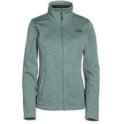 The North Face Meadowbrook Raschel Full Zip Womens Jacket, Balsam Green Heather, 256